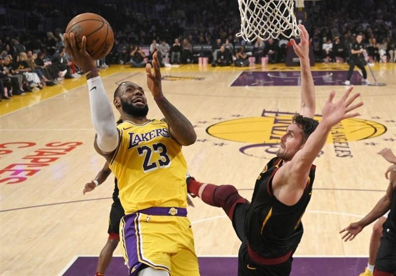 لیگ NBA، پیروزی لیکرز با تریپل دابل جیمز، همه میهمان ها برنده شدند