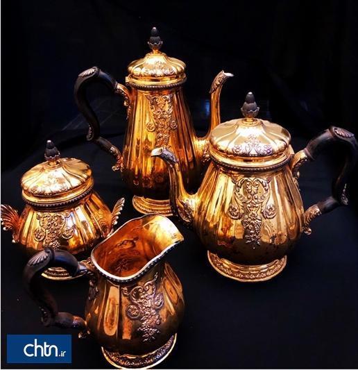 نمایش ظروف نقره مخزن سعدآباد در کاخ سبز