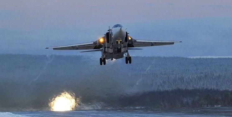 رزمایش هوایی ناوگان دریای سیاه روسیه در کریمه