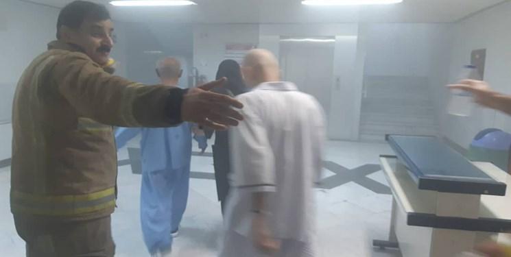 آتش سوزی در بیمارستانی در خیابان سخایی، نجات 20 بیمار از میان دود
