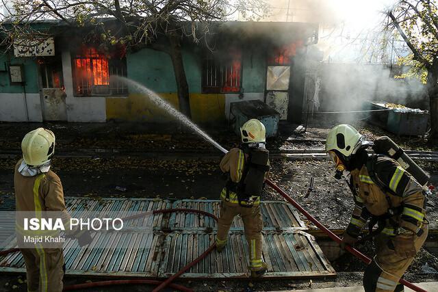 وقوع 2 آتش سوزی نیمه سنگین در پردیس اهواز