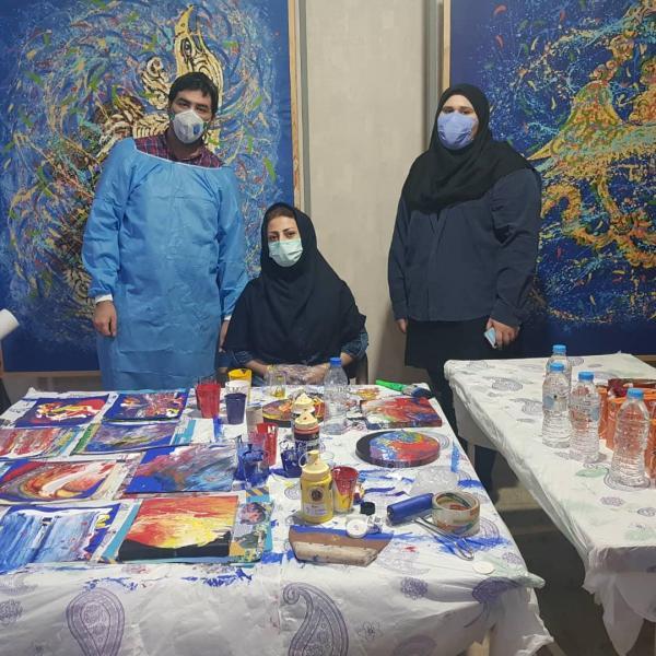 اولین ورکشاپ به سبک انتزاعی وابستره در آکادمی آروین آبادان برگزار گردید