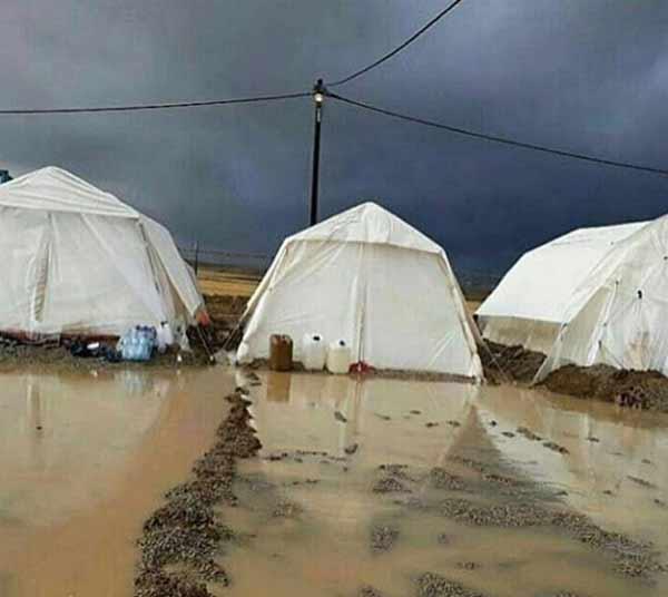 عکس دردناک مریم کاویانی از شرایط چادرهای زلزله زدگان