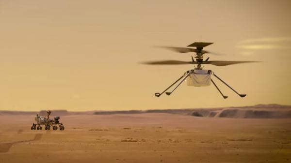 صدای پرواز هلیکوپتر مریخی ثبت شد