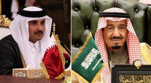 پیغام تبریک شاه سعودی و بن سلمان به امیر قطر